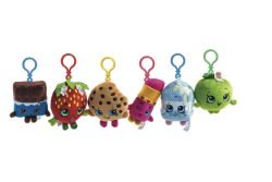 SHOPKINS PLUSH BAG CLIPS – 6 ASSORTED