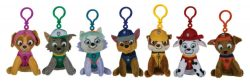PAW PATROL PLUSH BAG CLIPS 7 ASSTD