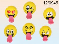 TONGUE EMOTICON BOUNCY BALL 6 ASSTD