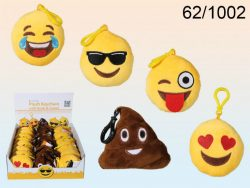 SOUND EMOTICON PLUSH BAG CLIP 5 ASSTD