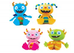HENRY HUGGLE MONSTERS 4 ASSTD 12″