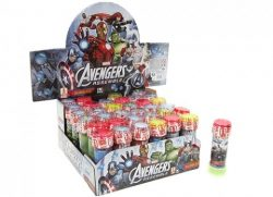 DISC 60ML AVENGERS BUBBLE TUBS WITH PUZZLE 4 ASST