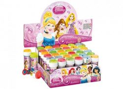 DISC 60ML PRINCESS BUBBLE TUBS WITH PUZZLE 4 ASST