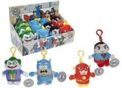 11CM ORIGINALS 4 ASSORTED PLUSH CLIP-ON – DC COMICS