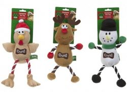 CRUFTS SQUEAKING XMAS PET TOY