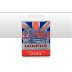 London Montage with UJ Foil Stamped Coasters