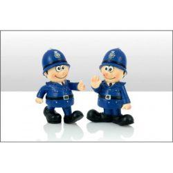 DISC  Policeman Resin Figures 2 Asst
