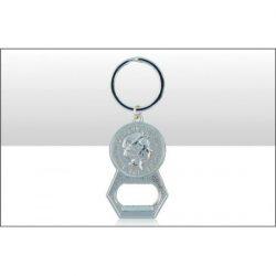 British Coin Bottle Opener Keyring