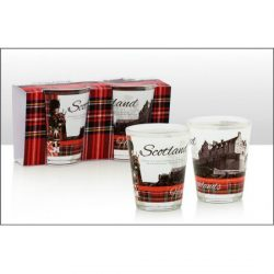 DISC Heraldic Scotland 2 Shot Glasses