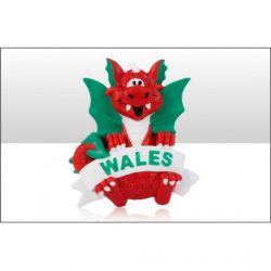 Welsh Dragon With Banner Resin Magnet