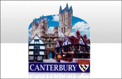 Canterbury Printed Resin Magnet