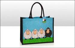 Sheep Jute Bag with gusset