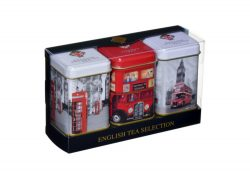 ENGLISH TEA SELECTION – TRIPLE TINS 75g LOOSE TEA
