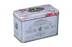 ENGLISH FINE TEA TIN- EARL GREY – 40 TEABAGS