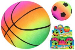 FLUORESCENT INFLATED SPORTS BALL