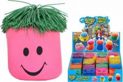 "SQUEEZE FUNNY FACE WITH RUBBER HAIR IN DBX""SCHOOLS OUT"""