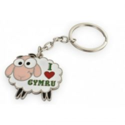 METAL KEYRING SHEEP I LOVE WALES
