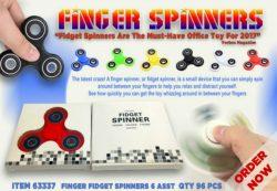FINGER FIDGET SPINNERS 6 ASST