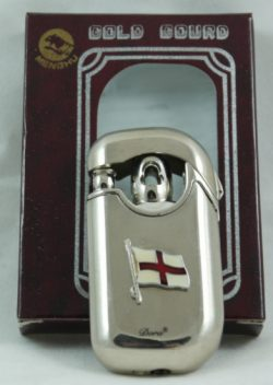 STAINLESS STEEL WINDPROOF LIGHTER ST GEORGE B