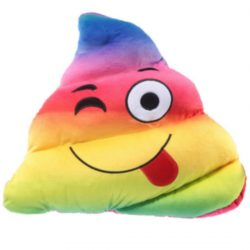 EMOTI CUSHION – RAINBOW POOP TONGUE OUT