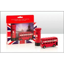 Bus and Post Box Die Cast Set