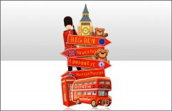WOODEN MAGNET LONDON SIGNPOST