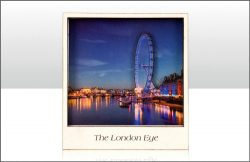 WOODEN MAGNET LONDON EYE