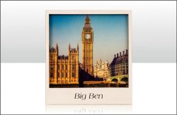 WOODEN MAGNET BIG BEN VIEW