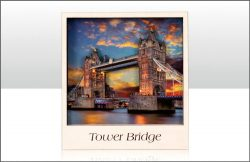 WOODEN MAGNET TOWER BRIDGE VIEW