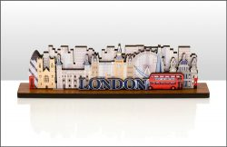 WOODEN SKYLINE SHELF ORNAMENT