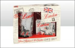 BW RED LOND MONTAGE TANK/COASTER SET