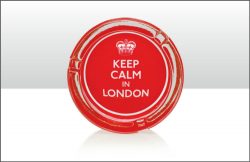 KEEP CALM IN LONDON GLASS ASHTRAY