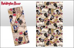 DISC PADDINGTON SCRAPBOOK PATTERN TEA TOWEL