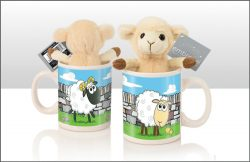 SOFT TOY SHEEP IN MUG