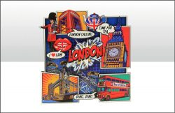 LONDON POP ART WOODEN MAGNET