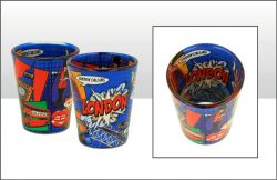 LONDON POP ART SHOT GLASS