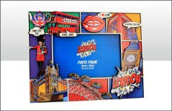 LONDON POP ART WOODEN PICTURE FRAME