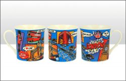 LONDON POP ART REGAL MUG