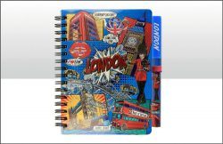 LONDON POP ART NOTEPAD & PEN