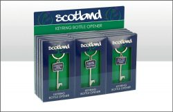 SCOTLAND KEY BOTTLE OPENER KEYRING 3 ASSTD
