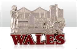 WALES METAL CAST FRIDGE MAGNET