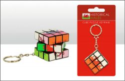 DISC WELSH DRAGON PUZZLE CUBE KEYRING