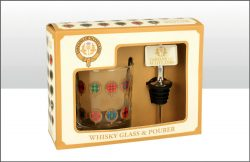 TARTANS OF SCOTLAND GLASS & POURER SET