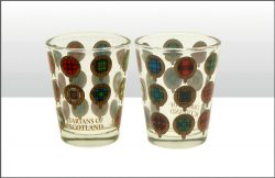 TARTANS OF SCOTLAND SHOT GLASS