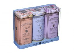 English Fine Tea 12 Teabag Tin Triple Set