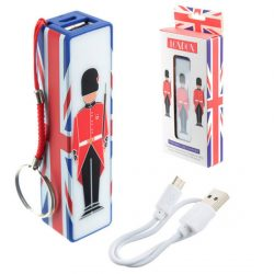 LONDON GUARDSMAN USB CHARGE BANK K/R