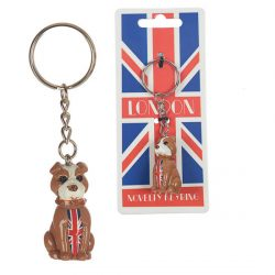 NOVELTY RESIN KEY-RING – BULLDOG