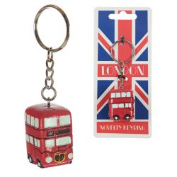 NOVELTY RESIN KEY-RING – BUS