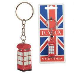 NOVELTY RESIN KEY-RING – TELEPHONE BOX