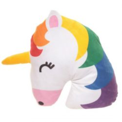 Emotive Plush Cushion – Rainbow Unicorn